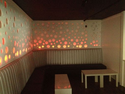 Custom Made Lounge Wall Design Fabrication And Install