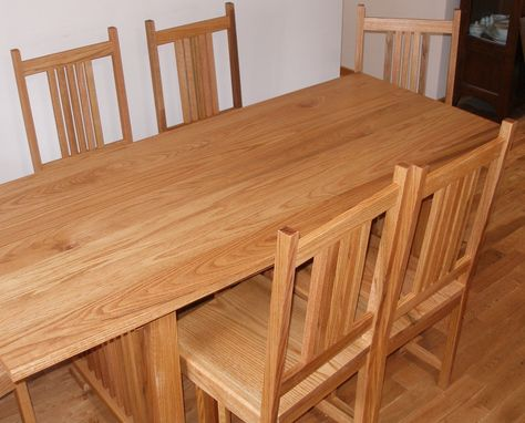 Custom Made Prairie Style Dining Table And Chairs