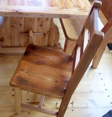 Custom Made Reclaimed Antique Heart Pine Rustic Dining Chairs