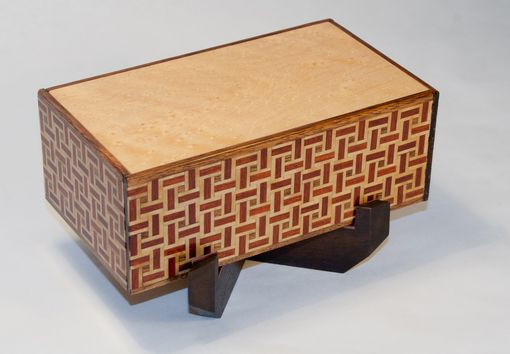 Custom Made Weave Pattern Puzzle Box