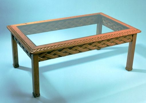 Custom Made Cherry Table Carved With Braids