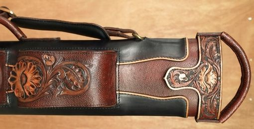 Custom Made Wild Rose Leather Poolstick Case