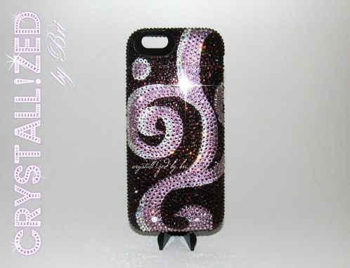 Custom Made Crystallized Iphone Battery Case Bling Cell Phone Charger Made With Swarovski Crystals