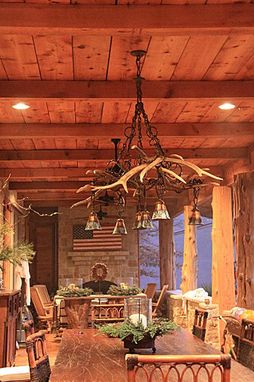 Custom Made Elk Antler Chandeliers (On Porch)