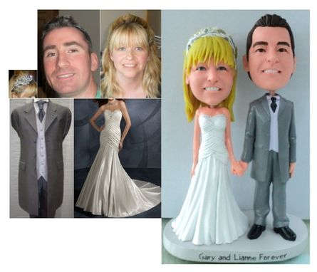 Custom Made Custom Cake Topper Holding Hands (With Base)