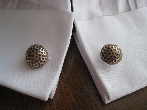 Custom Made Solid Bronze Golf Ball Sports Cufflinks With Bright Finish