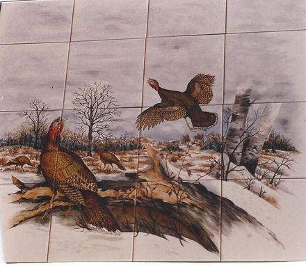 Custom Made Wild Turkey Scene