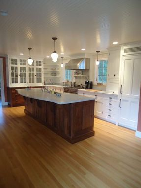 Custom Made Painted & Walnut Kitchen