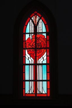 Custom Made Rose Memorial Window