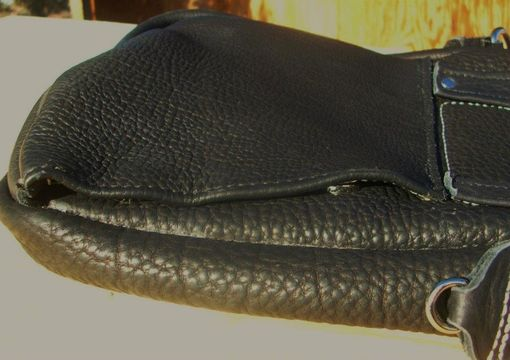 Custom Made Buffalo Or Bull Hide Leather Carry Conceal Shoulder Bags With Back Pocket Access.