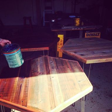 Custom Made Bar Tables With Hairpin Legs