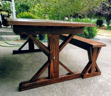 Custom Made Trestle Style Farmhouse Table