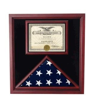 Custom Made Military Flag And Certificate Holder
