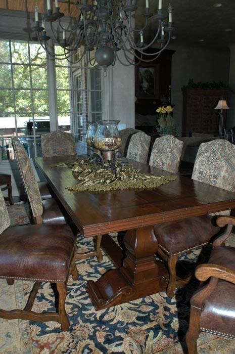 Handmade Tuscan Dining Table by Red Leaf Design Llc | CustomMade.com