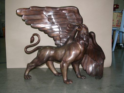 Custom Made Bronze School Macot Bronze Sculpture Missouri Western University
