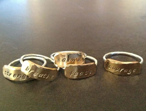Custom Made Personalized Stacking Ring