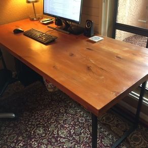 Reclaimed Wood Desk With Steel Leg System By Vladimir Von Mils
