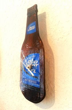 Custom Made Ffl Bud Light Beer Bottle Clock