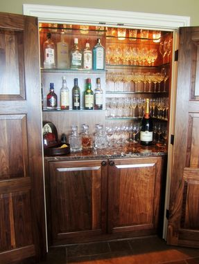 Handmade Dark Walnut Dry Bar By Dennisbilt Custom