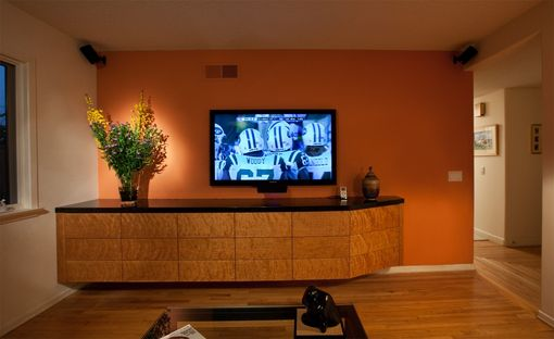 Custom Made Cantilever Entertainment Center