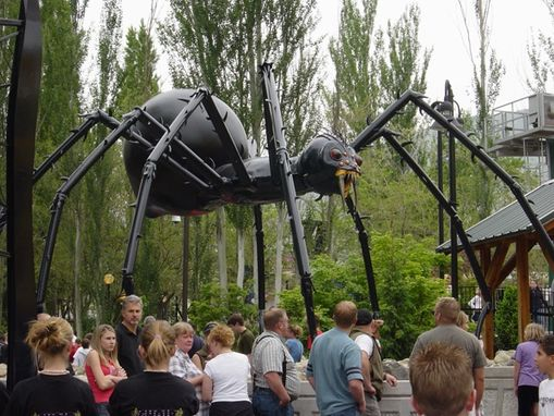 Custom Made Metal Sculpture - The Spider At Lagoon Theme Park