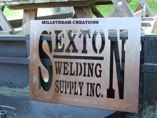Custom Made Custom Metal Steel Signage Work Many Effects Available Plasma Cut