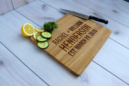 Custom Made Personalized Cutting Board, Engraved Cutting Board, Custom Wedding Gift – Cb-Wo-Henderson