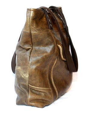 Custom Made Upcycled Leather Tote - The Uptown Tote - Large