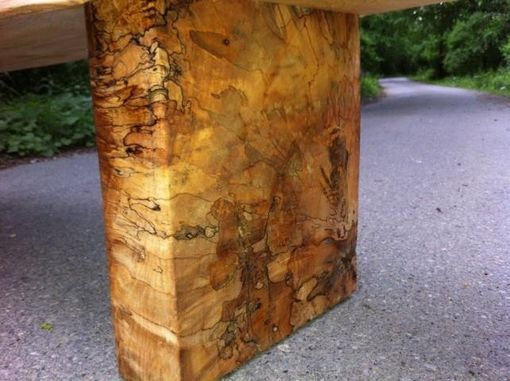 Custom Made Spalted Maple Bench