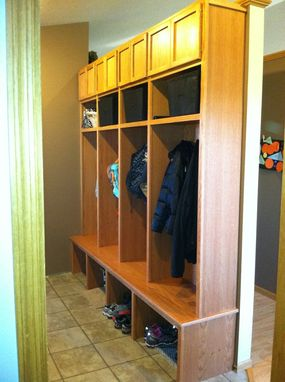 Custom Made Mud Room Lockers