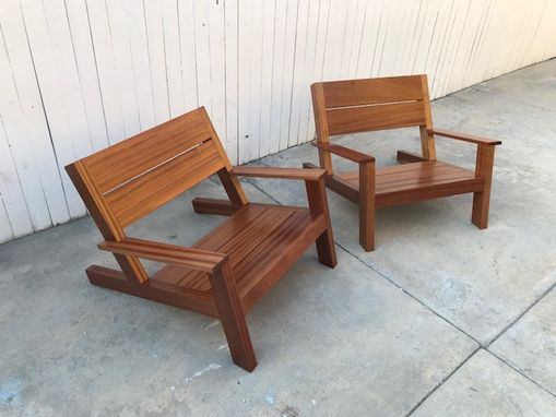 Custom Made Outdoor Seating/ Modern Adirondack Chairs