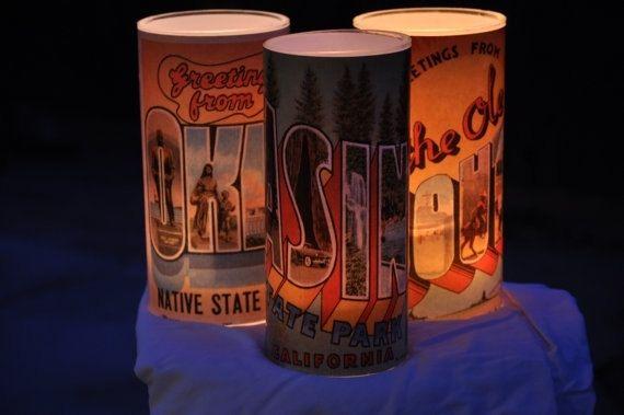 Hand Crafted Glass Luminary Vase Custom Vintage Produce