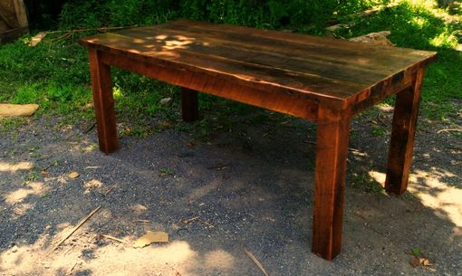 Custom Made Antique Reclaimed Wood Farmhouse Dining Table