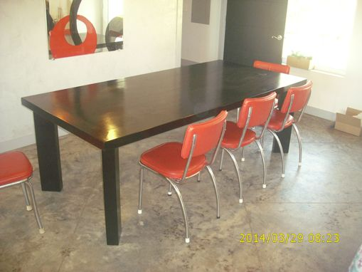 Custom Made Dining Table, Solid Slab.
