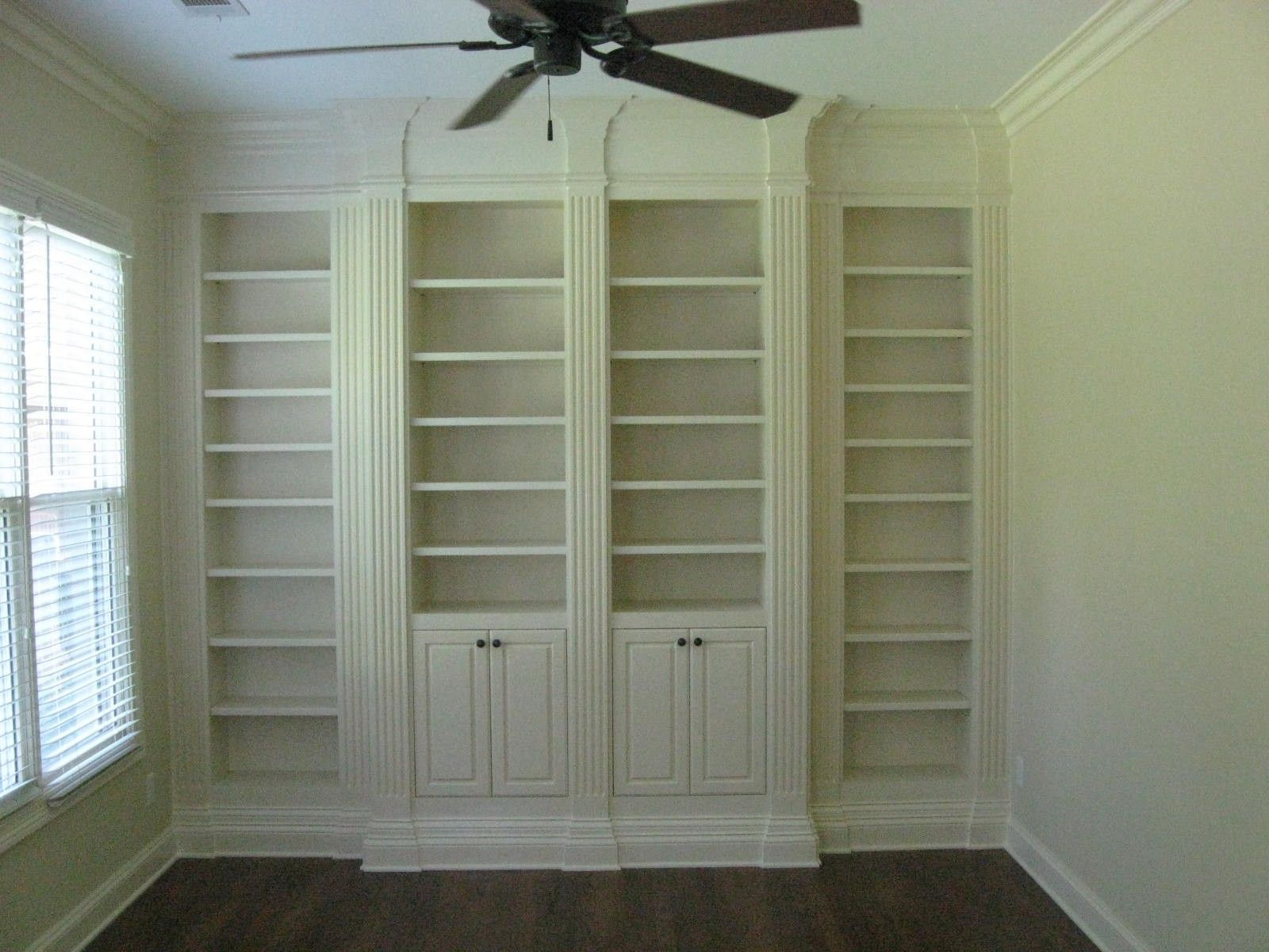 Custom Bookcase With Fluted Columns By Cristofir Bradley Cabinetry Custommade Com
