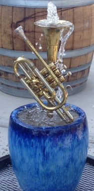 Custom Made Cornet In Small Falling Blue