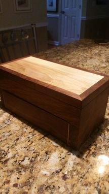 Custom Made Watch Or Jewelry Box With Leather Pouch