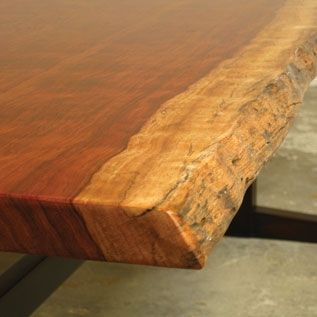 Custom Made Nakashima-Inspired Live Edge Dining Table