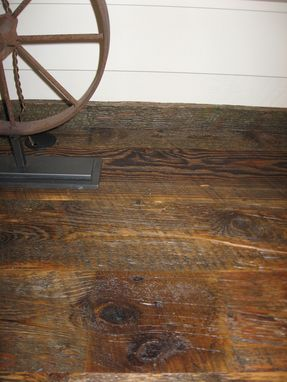 Custom Made Reclaimed Lumber Weathered Wood Desk Surface