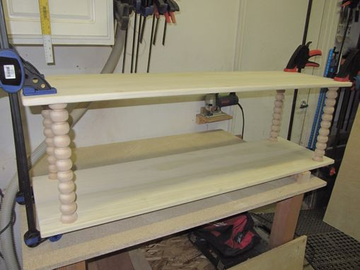 Custom Made Jenny Lind-Style Bench/Bookcase