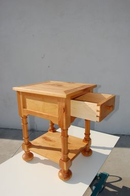 Custom Made Knotty Alder Side Table