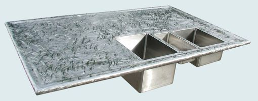 Custom Made Stainless Countertop With Butterfly Finish