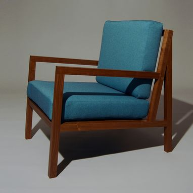 Custom Made Lola Lounge Chair In Walnut
