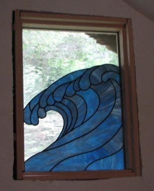 Custom Made The Wave Stained Glass Window