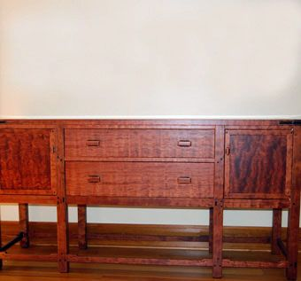 Custom Made Greene And Greene Inspired Sideboard