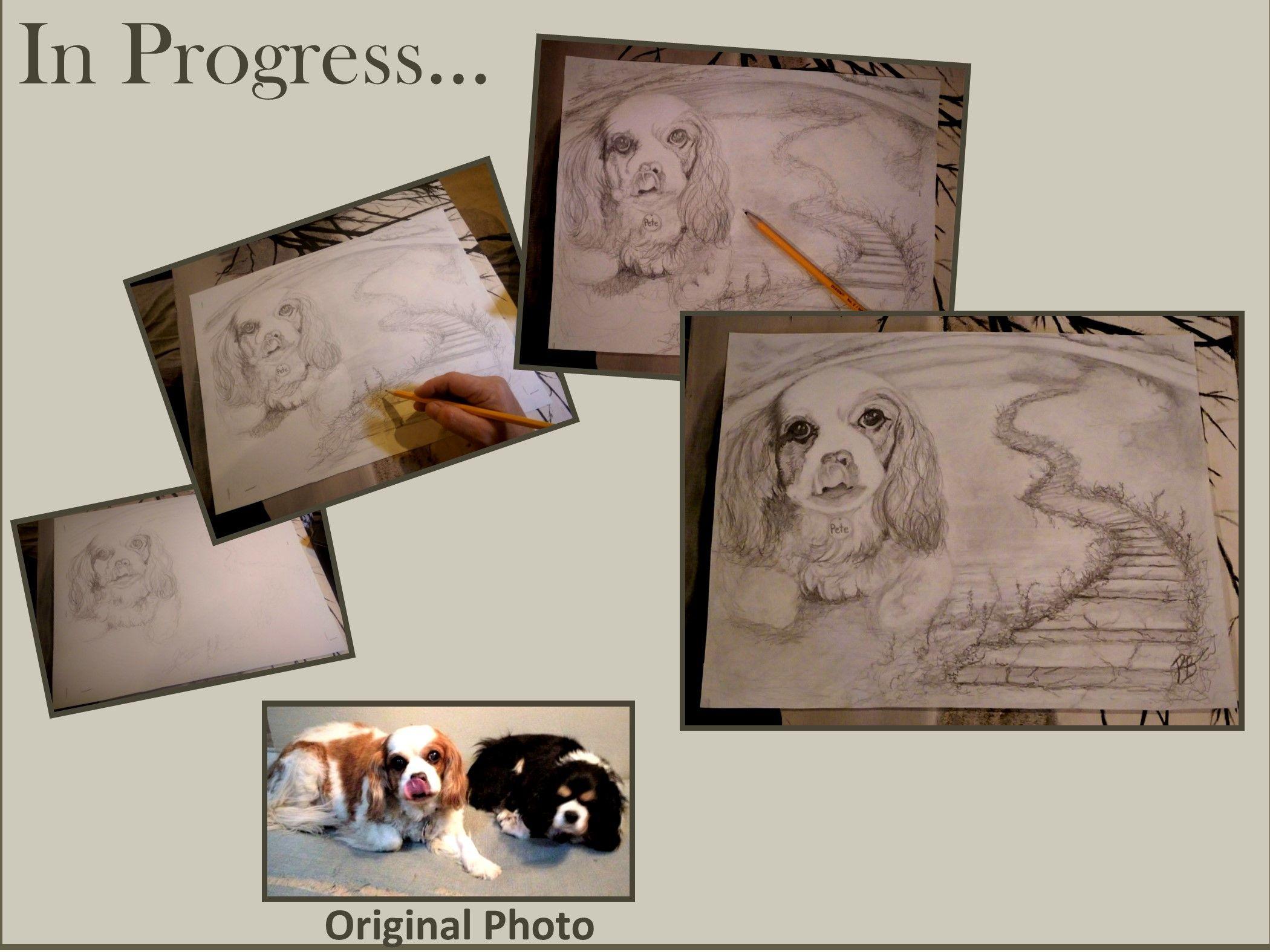 Buy Hand Made Pet Portrait, Pet Memorial, Pet Art, Dog Art,Pet ...