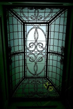 Custom Made Curved Shoulder Leaded Glass Ceiling