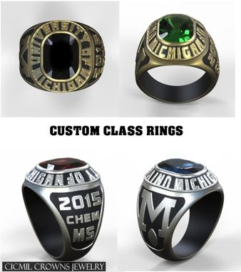 Custom Made Custom Class Rings