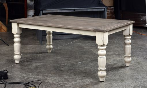 Custom Made White Oak Farmhouse Table