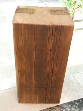 Custom Made Reclaimed Beam Side Table